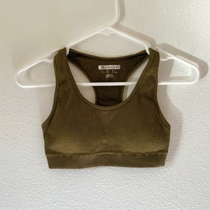 Army Green Forever 21 Sports Bra